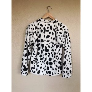Vintage Tops - VINTAGE Dalmatian cow print pullover sweater top